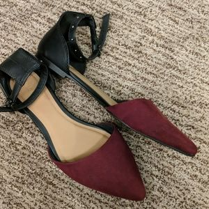 NWOT Ankle Strap Flats